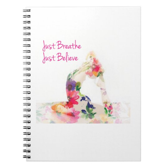 Just Breathe Yoga Notebook