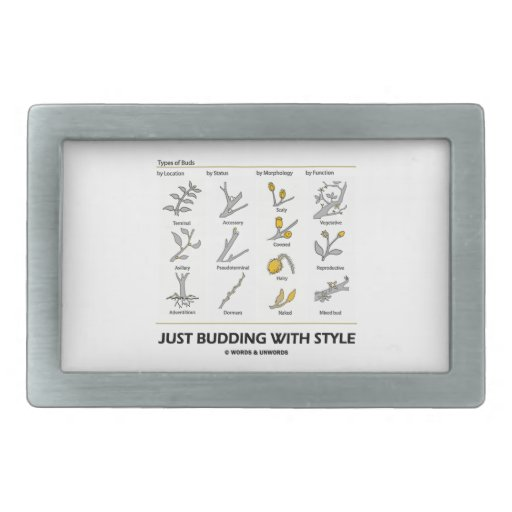 Just Budding With Style (Types Of Buds) Belt Buckle