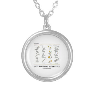 Just Budding With Style (Types Of Buds) Round Pendant Necklace