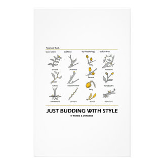 Just Budding With Style (Types Of Buds) Stationery Paper