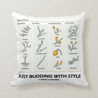 Just Budding With Style (Types Of Buds) Throw Cushion
