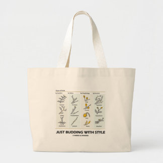 Just Budding With Style (Types Of Buds) Jumbo Tote Bag