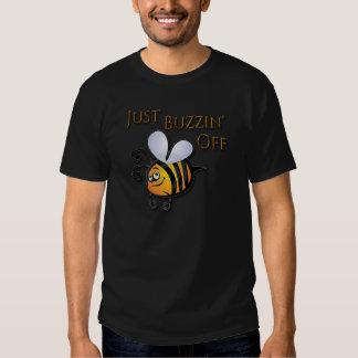Just Buzzin Off brown Tee Shirt