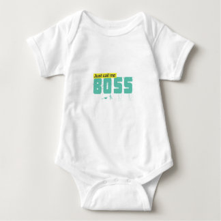 Just call me boss unisex body for babies baby bodysuit