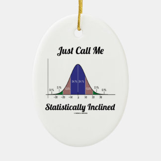 Just Call Me Statistically Inclined (Bell Curve) Christmas Ornament