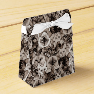 just cats sepia favour box