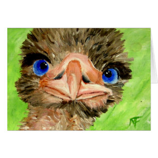 Just checkin' Ostrich Greeting Card