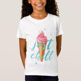 """Just chill"" Watercolor ice cream cone T-Shirt"
