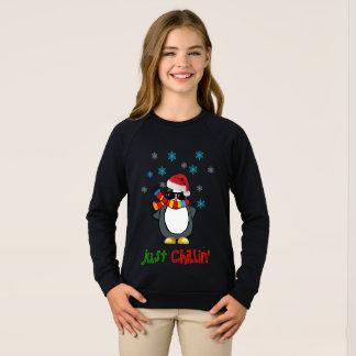 just chillin funny christmas sweat-shirt design sweatshirt