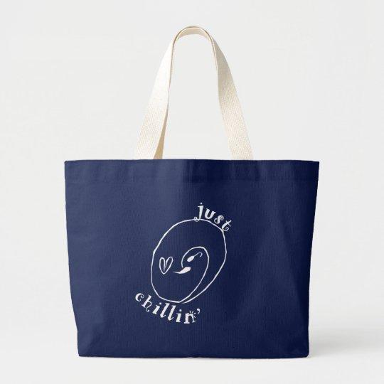 Just Chillin Jumbo Tote Bag