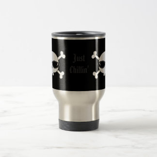 Just Chillin' Skulls With Sunglasses Travel Mug