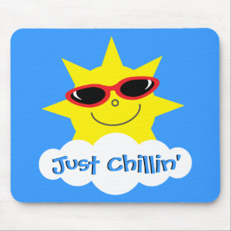 Just Chillin' Sun With Sunglasses Mousepad