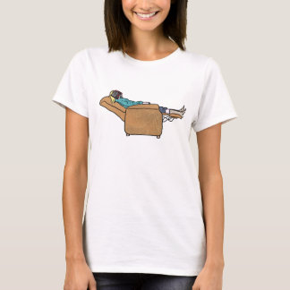 Just Chilling Out Reading Funny Collage Art T-Shirt