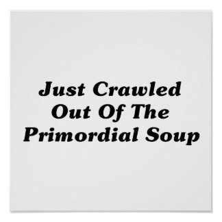 Just Crawled Out Of The Primordial Soup Posters