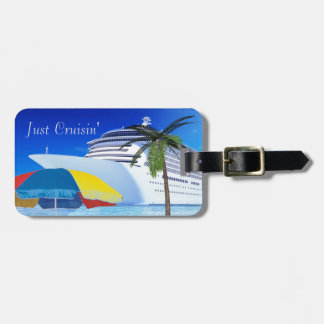 Just Cruisin By The Beach Luggage Tag