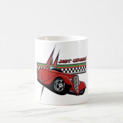 Just Cruisin Hot Rod Basic White Mug