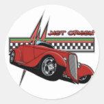 Just Cruisin Hot Rod Round Sticker