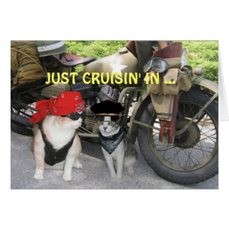 Just Cruisin' In Funny Birthday Greeting Card