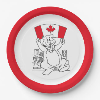 Just Dance Canada Day Party Paper Plates 9 Inch Paper Plate