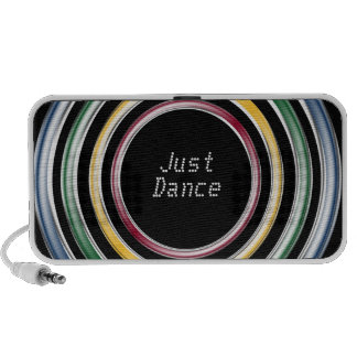 Just dance metallic color techno house music style PC speakers