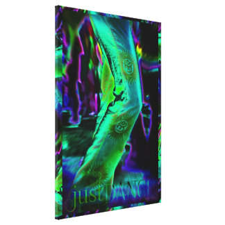 Just Dance Psychedelic  Colours Wrapped Canvas Gallery Wrapped Canvas