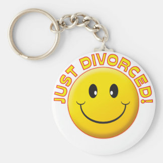 Just Divorced Smile Basic Round Button Key Ring