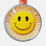 Just Divorced Smiley Christmas Tree Ornament