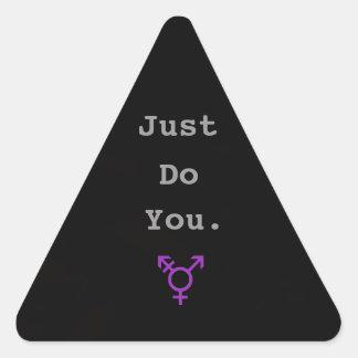 Just Do You Transgender Sticker - Black