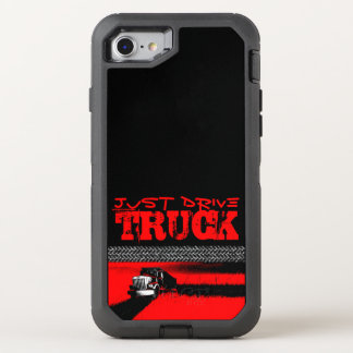 JUST DRIVE Truck: RED OtterBox Defender iPhone 7 Case