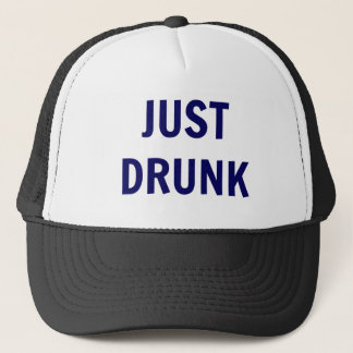 'Just Drunk' Trucker Hat - Navy Text