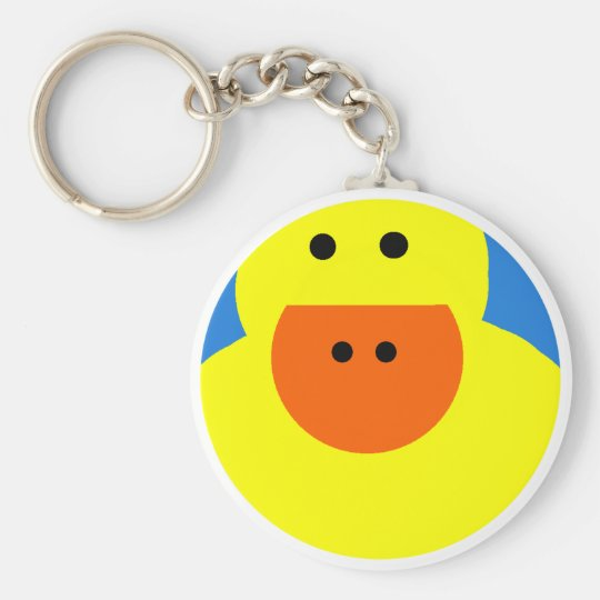 Just Ducky Basic Round Button Key Ring