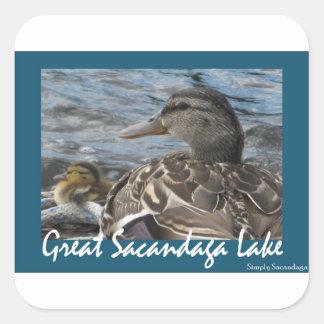 Just Ducky Square Sticker