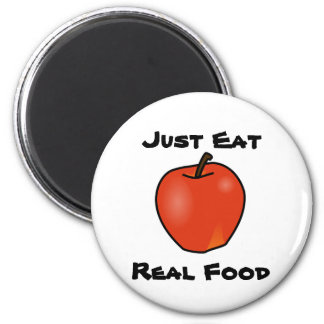 Just Eat Real Food 6 Cm Round Magnet