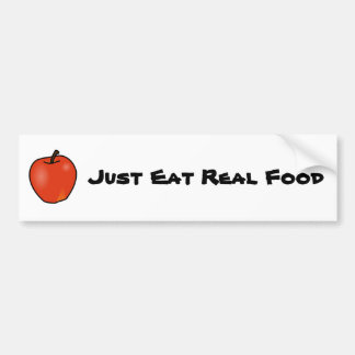 Just Eat Real Food Bumper Sticker