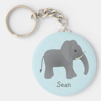 Just Elephant Basic Round Button Key Ring