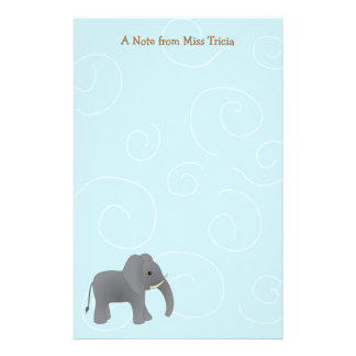 Just Elephant Stationery Paper