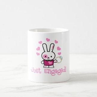 Just Engaged Cute Bunny Mug