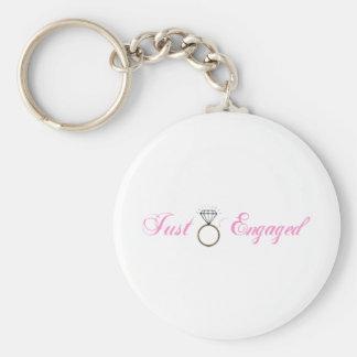 Just Engaged (Diamond Engagement Ring) Key Ring