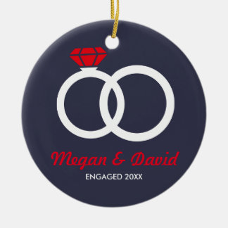 Just Engaged, married christmas ornament gift