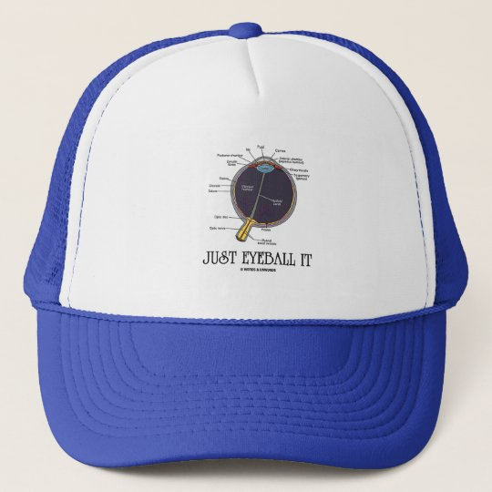 Just Eyeball It (Eye Anatomy Approximation Saying) Trucker Hat
