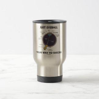 Just Eyeball Your Way To Success (Eye Anatomy) Stainless Steel Travel Mug