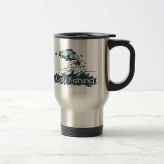 Just fishing mens travel mug