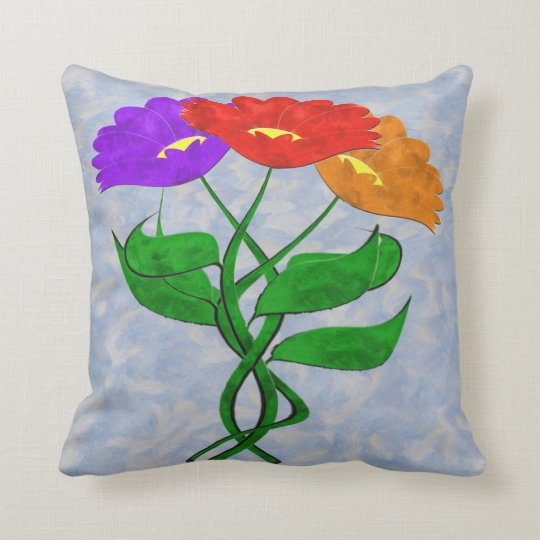 Just Flowers Throw Pillow