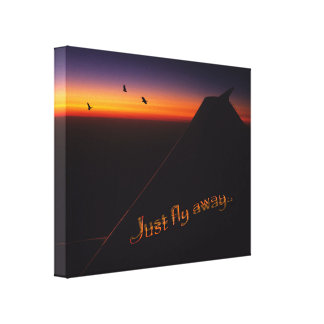 Just Fly Away Canvas Print