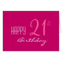 Just for Her 21st Birthday Card
