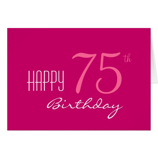 Just for Her 75th Birthday Card