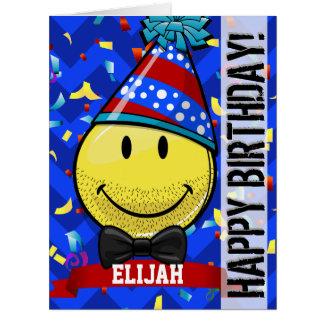 Just for Him! Giant Smile Custom Big Birthday Card
