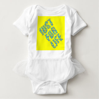 JUST FOR LIFE YELLOW BLUE Baby Jersey Bodysuit