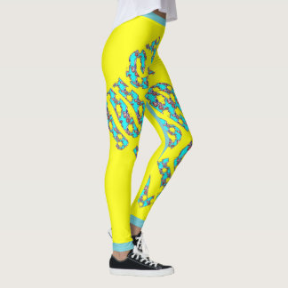 JUST FOR LIFE YELLOW BLUE Custom Leggings