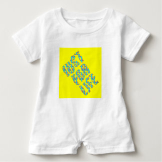 JUST FOR LIFE YELLOW BLUE G Baby Jersey Bodysuit